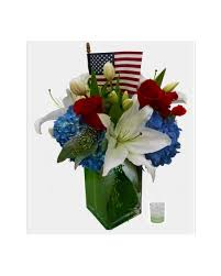 4th of july red white and blue blooms