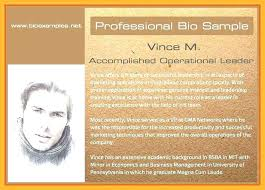 Chef Bio Template Brief Bio Biography Example Sample Short Yourself
