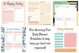 Daily Planner Printables Five Amazing Free Daily Planner Printables The Diary