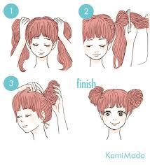 親子でお揃い髪型簡単ミッキーマウスヘアアレンジイラスト付き