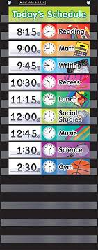 Scholastic Classroom Resources Pocket Chart Daily Schedule Black Sc583865