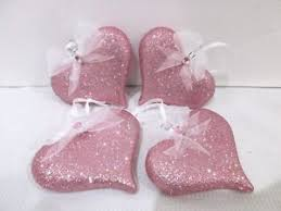 Sweet shabby chic valentines day decor ideas Ruth Image Is Loading Valentinesdayshabbychicpinkglitterhearts3 Debbiedoos Valentines Day Shabby Chic Pink Glitter Hearts 3