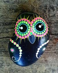 arts crafts home office. colorfull painted owl on pebbles natural eco nature stone rock art craft handmade home office u0026 garden decor arts crafts