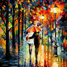 modern impressionism palette knife oil painting kp013