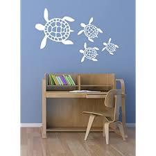 sea turtle scene vinyl wall decal