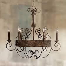 franklin iron works 30 wide rust candelabra chandelier y2301 throughout designs 3