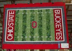 Ohio State Buckeyes Quilt - Makes me want to learn to quilt ... & Ohio State Buckeyes quilt | Football Fanatic pattern from Alaska Seams Like  Home Adamdwight.com
