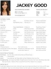 Acting Resume Template For Microsoft Word 58 Images Theatre Utah