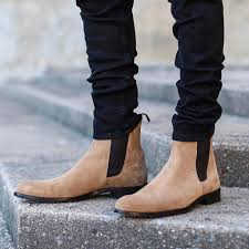 These natural tones allow them to go with any outfit. The Taupe Chelsea Boots Oro Los Angeles 2 Boots Outfit Men Chelsea Boots Outfit Chelsea Boots Men