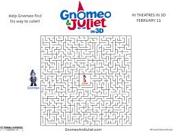 Free Gnomeo Juliet Movie Maze : Printables for Kids – free word ...