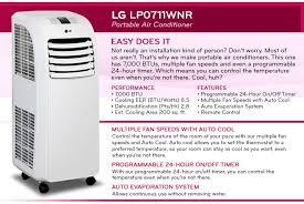 lg portable air conditioner. remote control; enables you to conveniently make temperature adjustments lg portable air conditioner