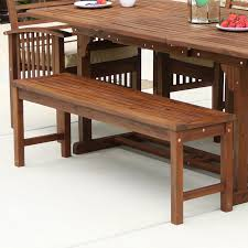 Walker edison acacia wood patio dining bench walmart com