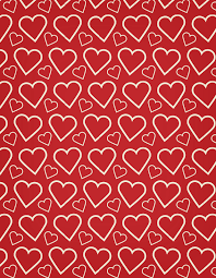 Red Heart Patterns Cool A Heart Outline Free Seamless Vector Pattern