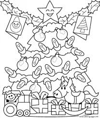Christmas Tree Coloring Pages With Presents 2 Printable Coloring