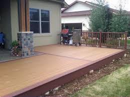 Composite Pvc Deck Design Ideas Spiced Rum Trex Deck Home And - Exterior decking materials