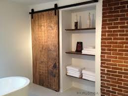 industrial barn door hardware and barn doors contemporary bathroom
