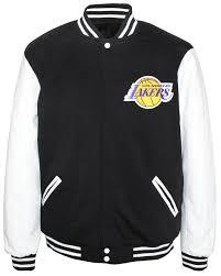 Jh Design Nba Jackets Jh Design Nba Mens Reversible Fleece Jacket Los Angeles Lakers Black White