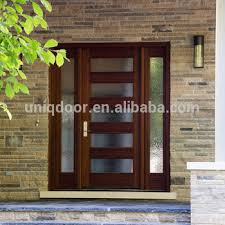 wooden front door with glass. Beautiful With Western Style Mahogany Solid Wooden Entry Door With Glass Window Throughout Wooden Front Door With Glass