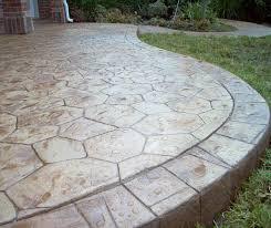 stamped concrete patio. Stamped Concrete Patio Grey