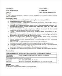 Sample Resumes For Business Analyst 8 Business Analyst Resumes Free Sample Example Format