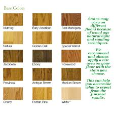 Bona Fast Dry Stain Color Chart Southern Hardwood Floor Finishes
