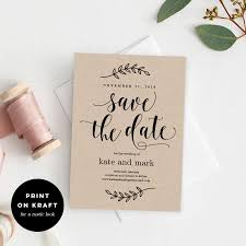 Save The Date Cards Template Printable Save The Date Template Rustic Wedding Save The