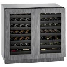 36 inch wide 62 bottle capacity undercounter glass door wine cooler from the 3000 series