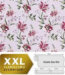 Bolcom Bloemen Behang Edem 900 17 Rood Met Textiel Structuur Rood