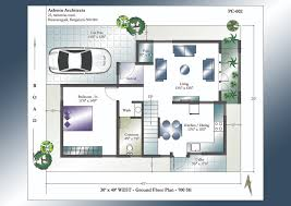 30 x 40 west facing house plans ground floor