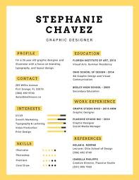 Yellow Graphic Designer Infographic Resume - Templates By Canva