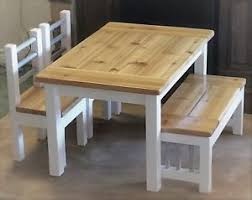 Image is loading Rustic-Kids-Farmhouse-Table-Set Rustic Kids Farmhouse Table Set | eBay