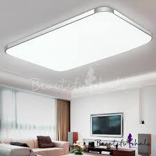Aluminum <b>Rectangle</b> Flush Mount Light <b>Contemporary LED Ceiling</b> ...