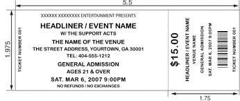 Make Your Own Ticket Stub Free Printable Raffle Ticket Templates 10