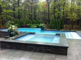 infinity pool backyard. Interesting Pool Negative Edge Infinity Pool With Overflow Spa And Infinity Pool Backyard