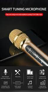 Taşınabilir profesyonel Karaoke kondenser mikrofon Sing kayıt canlı mikrofon  cep telefonu bilgisayar için yankı ses kartı|Microphones