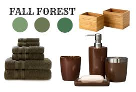brown and green bathroom accessories. Autumn Bathrooms Brown And Green Bathroom Accessories E
