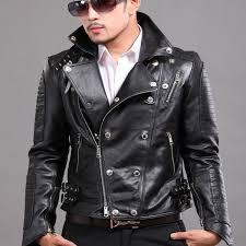 punk leather jacket for men