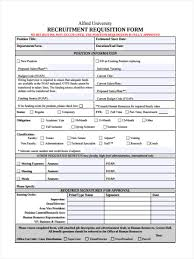 employment requisition form template 6 recruitment requisition forms free sample example format download