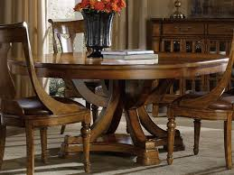 furniture tynecastle medium wood 60 wide round pedestal dining table 5323 75206