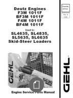 deutz bf4m1011f engine service parts manual 907763 rev b sl4635 sl4835 sl5635 sl6635 skid loader deutz engine parts manual 917115b