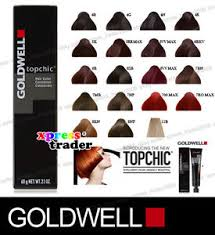 Goldwell 6rb Colour Chart Details About Goldwell Topchic Permanent Colour Hair Color Dye 60ml