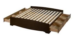 Prepac Bedroom Furniture Prepac Fremont Espresso King Platform 6 Drawer Storage Bed