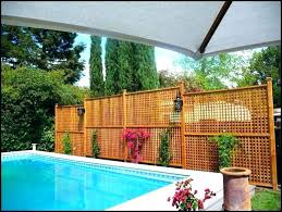 pool privacy ideas fence around deck above ground