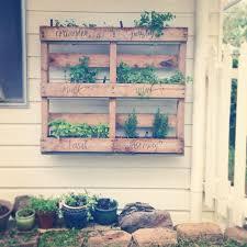 messyart herb garden pallet pallets
