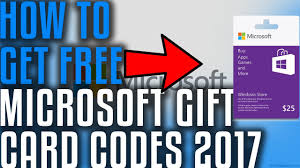 Microsoft Giftcard Does It Work Free Microsoft Gift Card Codes 2017 Youtube