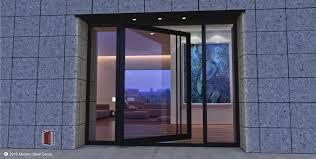 custom glass front doors modern glass