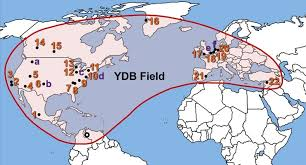 The younger dryas event is what caused a large megafaunal extinction, seeing the end of woolly mammoths, species of bison, american horses and camels, and giant sloths. Map Showing 24 Sites Containing Younger Dryas Boundary Ydb Download Scientific Diagram