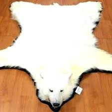 polar bear rug rugs for white with faux fur antique p