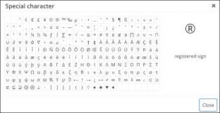Html Symbols Chart How To Insert Special Characters Into Wordpress Posts And