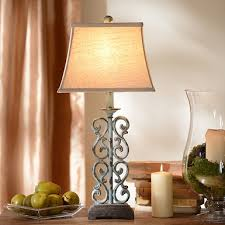 table lamps lighting. metal blue scroll table lamp lamps lighting